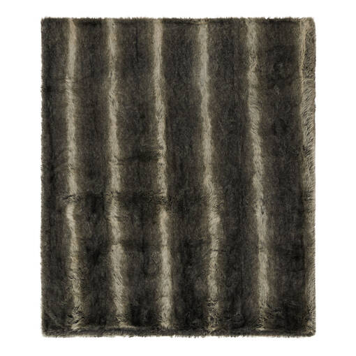 Fauna Faux Fur Throw Grey Wolf