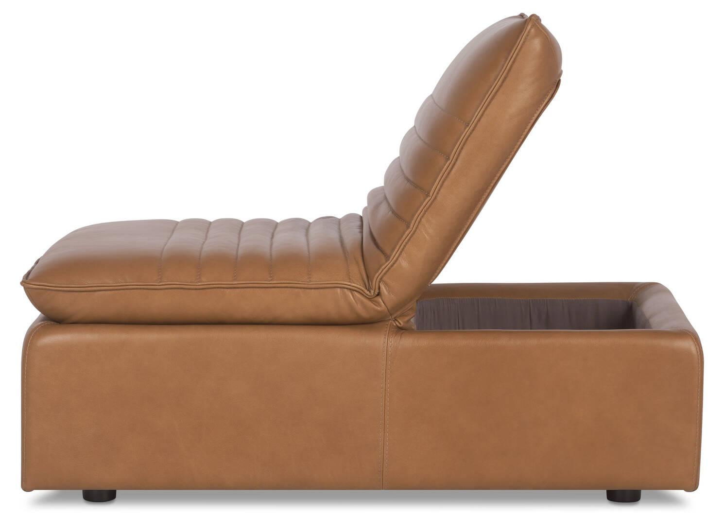 R-pieds en cuir Skylar -Adler brun clair