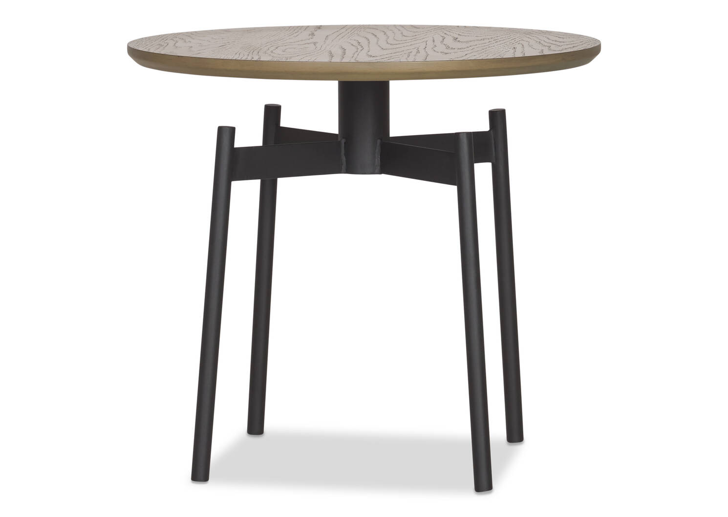 Melville Round Side Table -Raven Umber
