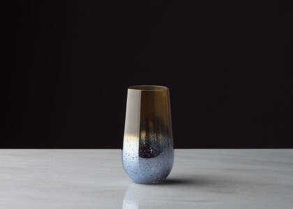 Verre long Rhapsody brunante/bleu
