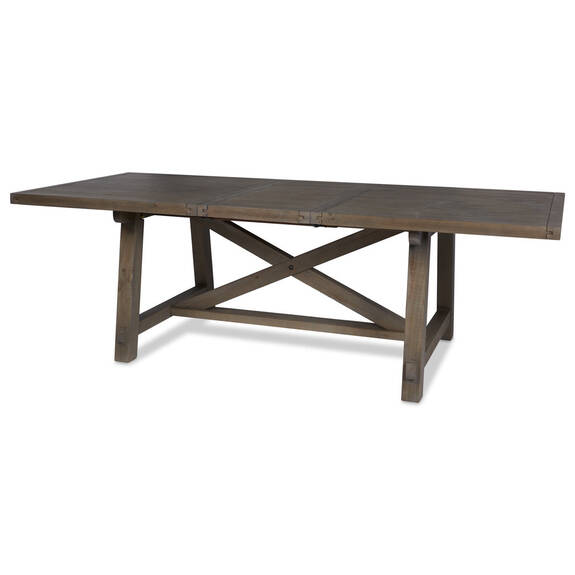 Table rect. rallonge Ironside -gris rust