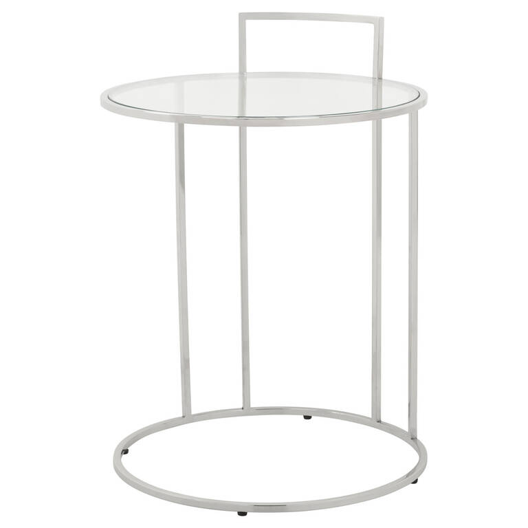 Jeane Tuck Accent Table -Chrome
