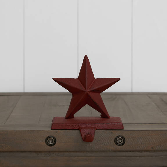 Twinkle Star Stocking Holder Red