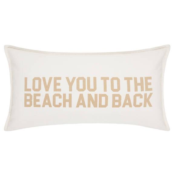 Coussin Love You Beach 12x22 savane