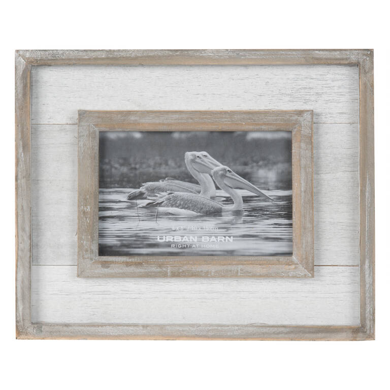Ashworth Frame 4x6 Grey/White