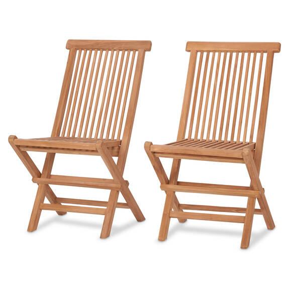 Deux chaises Galiano -teck naturel