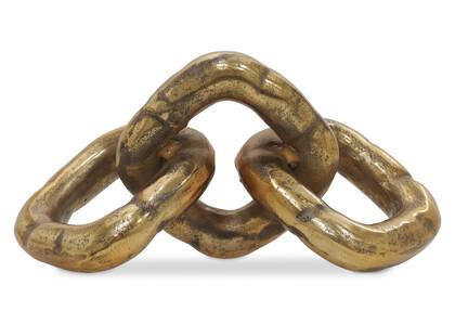 Ganon 3 Links Decor Antique Brass