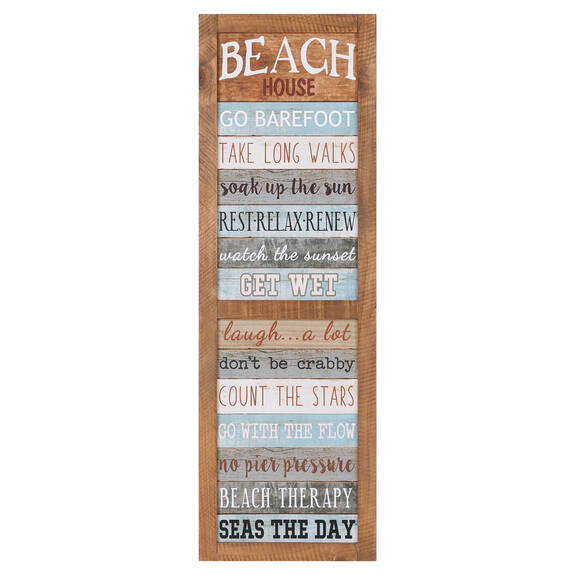 Beach House Rules Wall Plaque