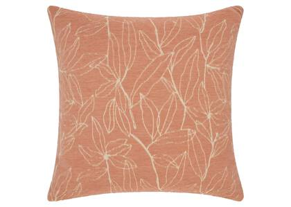 Coussin feuille Trailing 20x20 sel r/iv
