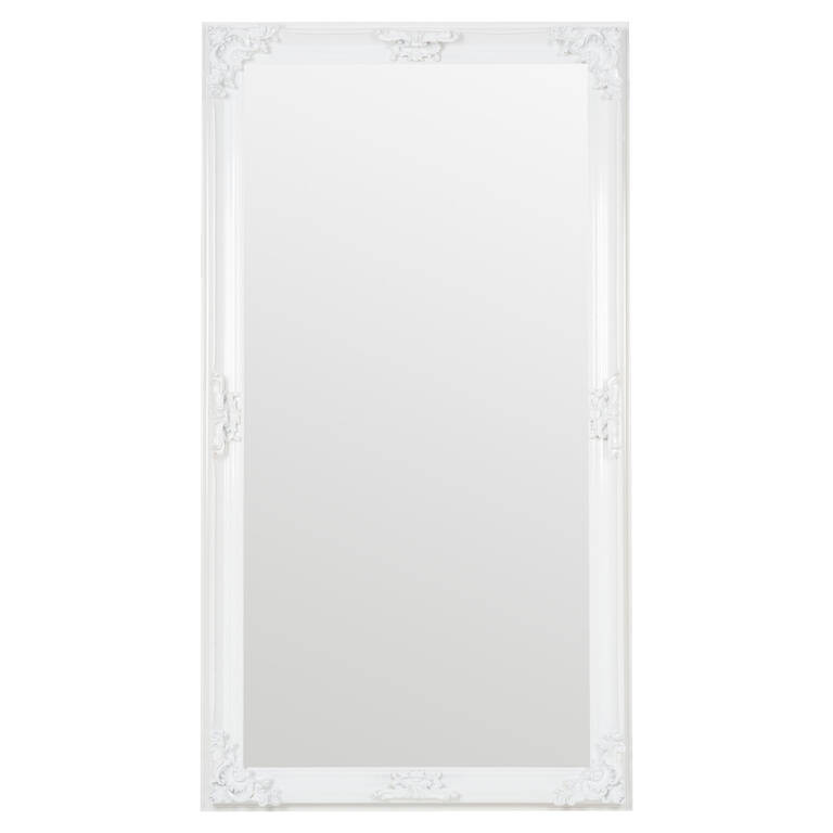 Presley Floor Mirror White