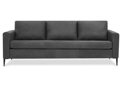 Lucca Leather Sofa -Attica Slate