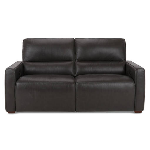 Encore Leather Reclining Sofa -Bram Coal