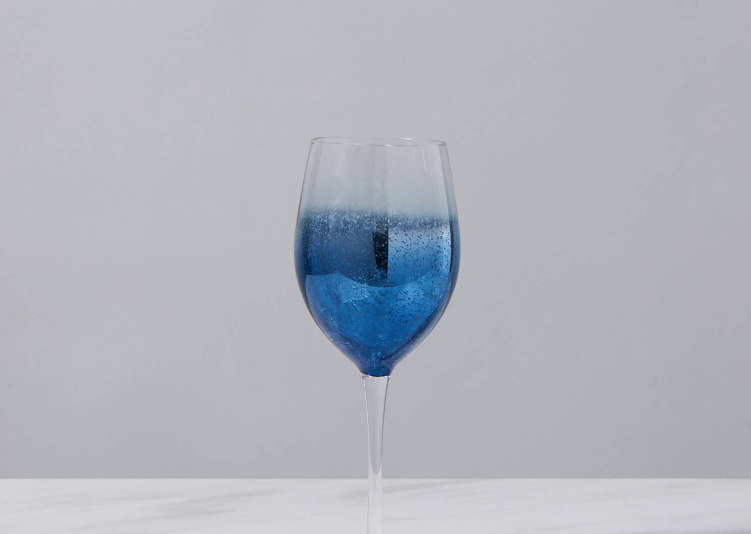 Shimmer Glassware - Navy