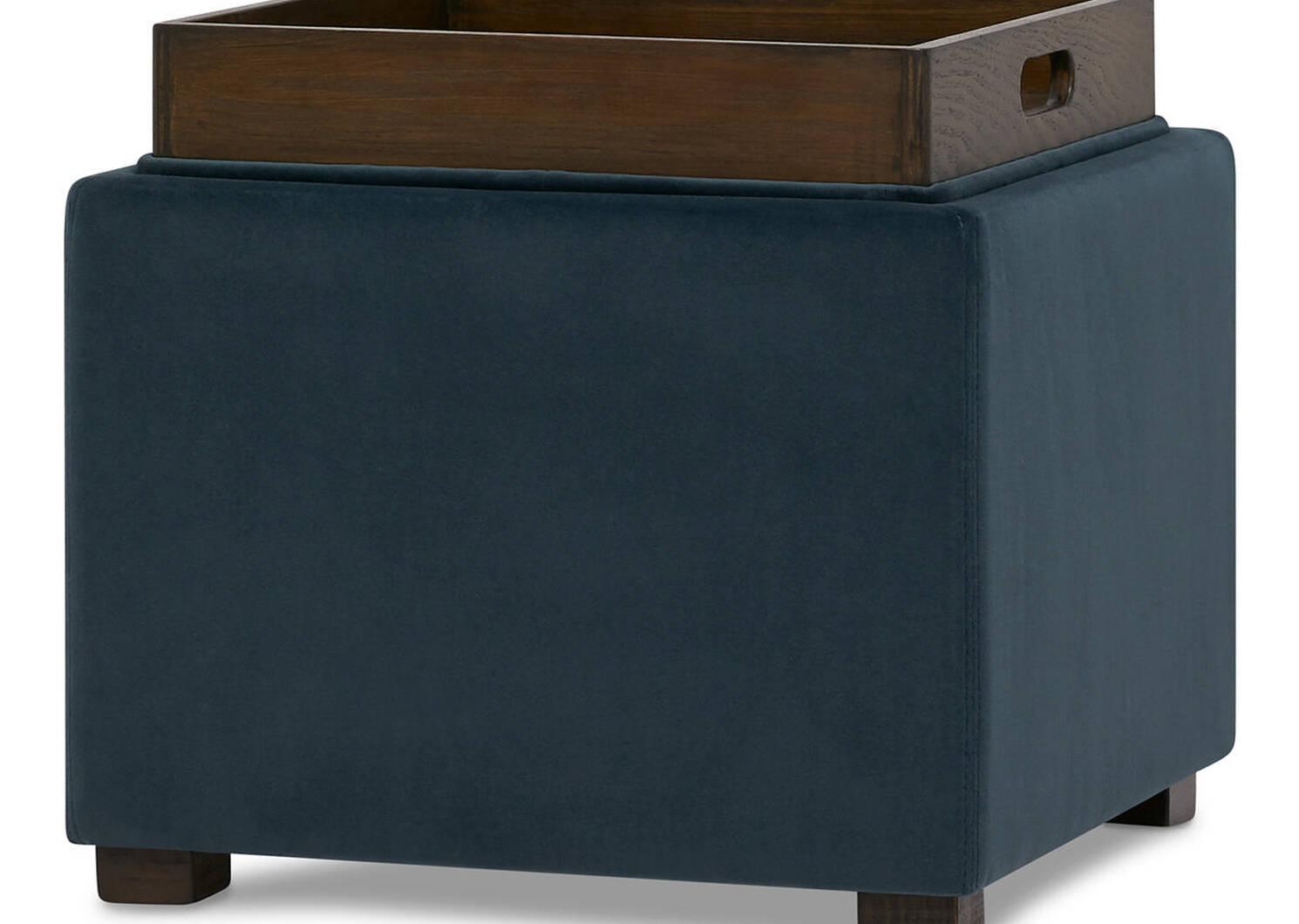 Fay Storage Ottoman -Alexa Steel