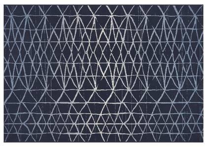 Tapis zigzag Seychelles - bleus/ivoire