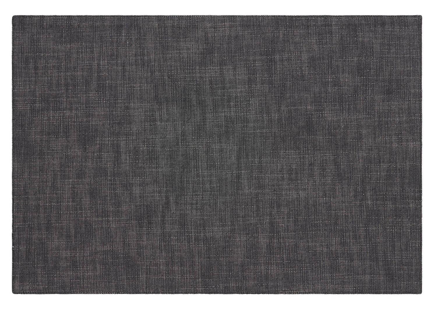 Beaumaris Stripe Placemat Charcoal/Nat