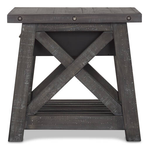 Ironside 1 Drawer Side Table -Smoke