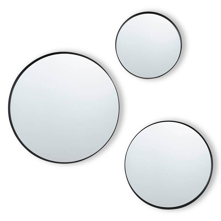 Frances Wall Mirror Set Black