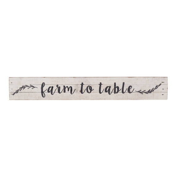 Farm to Table Wall Plaque