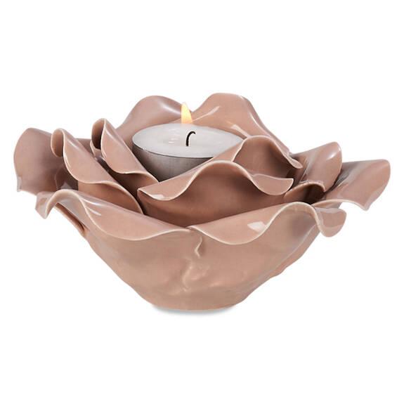 Rosette Tealight Holder Ballet Pink