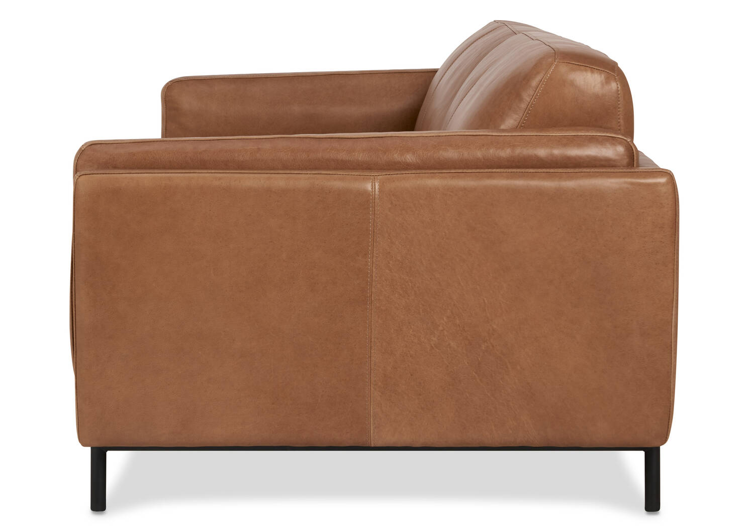 "Renfrew Leather Sofa 80"" -Adler Tan"