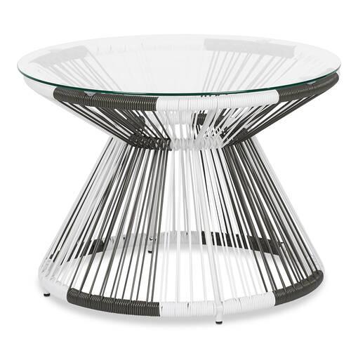 Porto Side Table -White/Grey