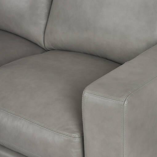 Canapé d'angle en cuir Brewer personnalisé