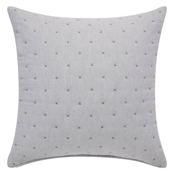 Coussin Sadler 24x24 gris pâle