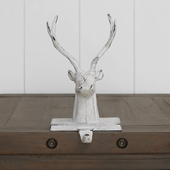 Rolf Stag Stocking Holder White