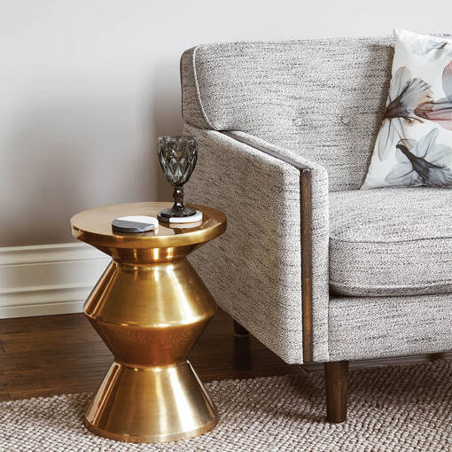 Pike Accent Table- Nico Brass