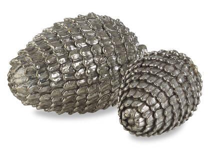 Eli Pinecone Balls -Silver
