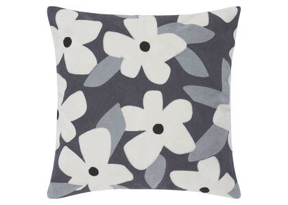 Candor Floral Toss 20x20 Ivory/Cobble
