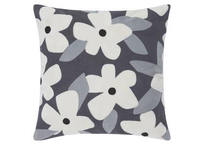 Coussin floral Candor 20x20 ivoire/pavé