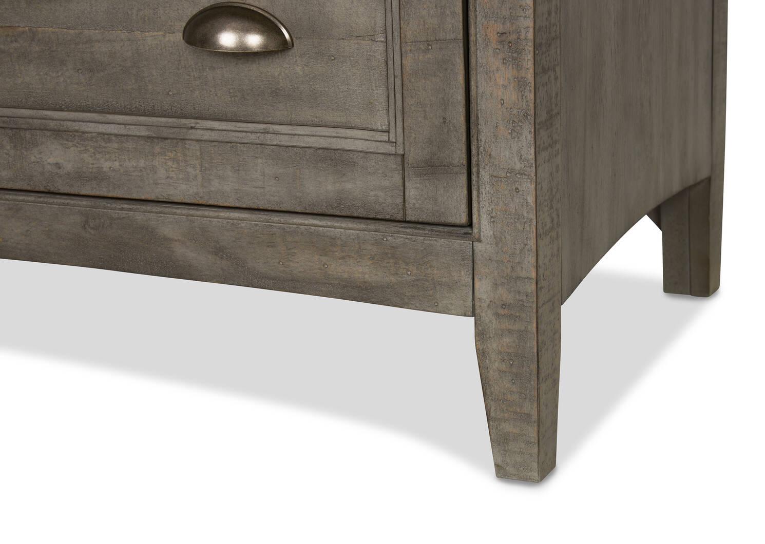 Commode à 5 tiroirs Parker -héron gris