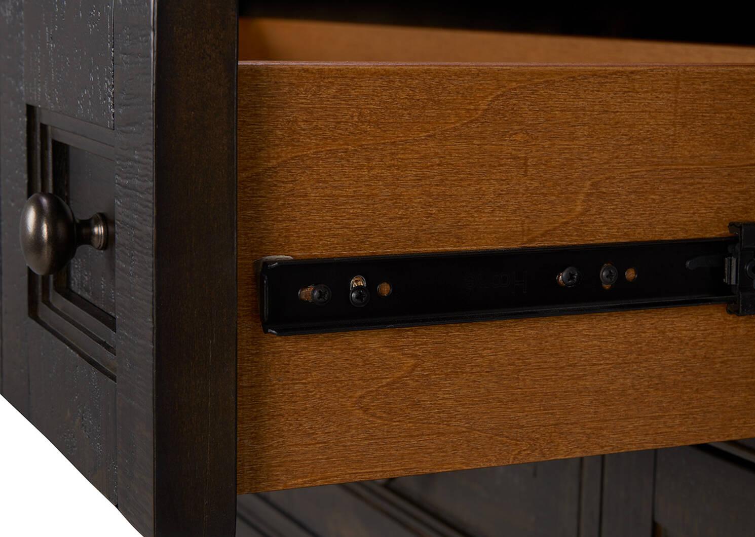 Commode 5 tiroirs Parker -Héron charbon