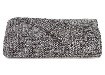 Henning Cotton Throw Dark Grey/Natural