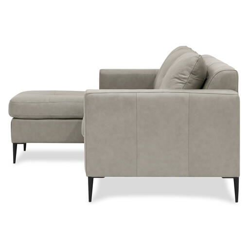 Swell Lucca Custom Leather Sofa Chaise Gmtry Best Dining Table And Chair Ideas Images Gmtryco