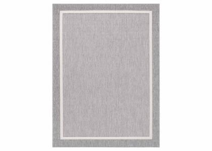 Matira Rug - Border Grey/Ivory