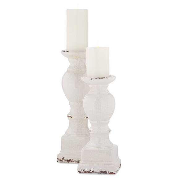 Alessio Candle Holders White