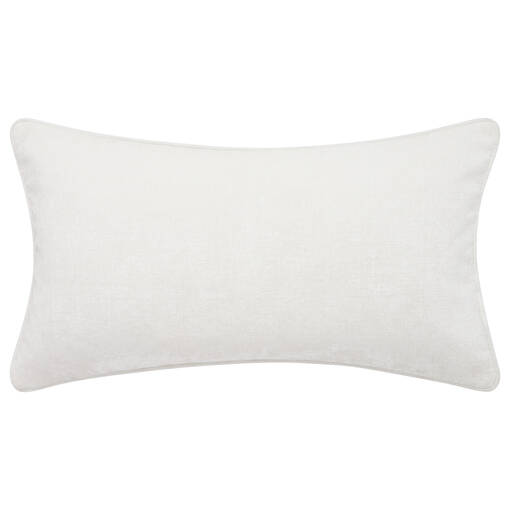 Coussin Clooney 12x22 blanc