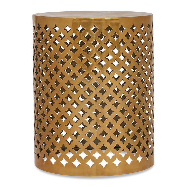 Casie Accent Table -Brass