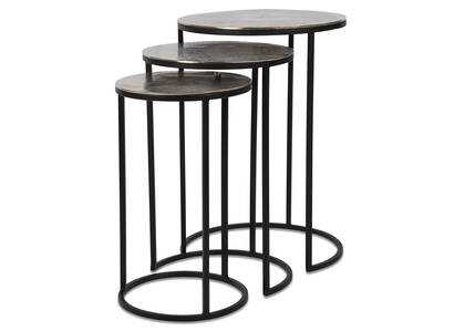 Mirri Nesting Tables -Raw Nickel