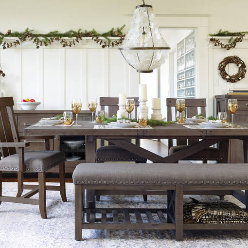 Ironside Ext Dining Table Rect -Grey