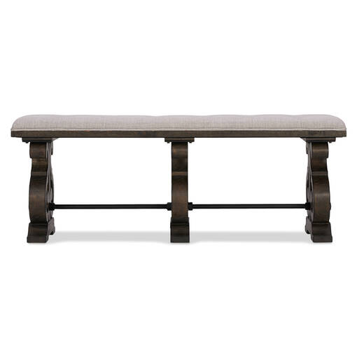 Churchill Upholstered Bench-Carob