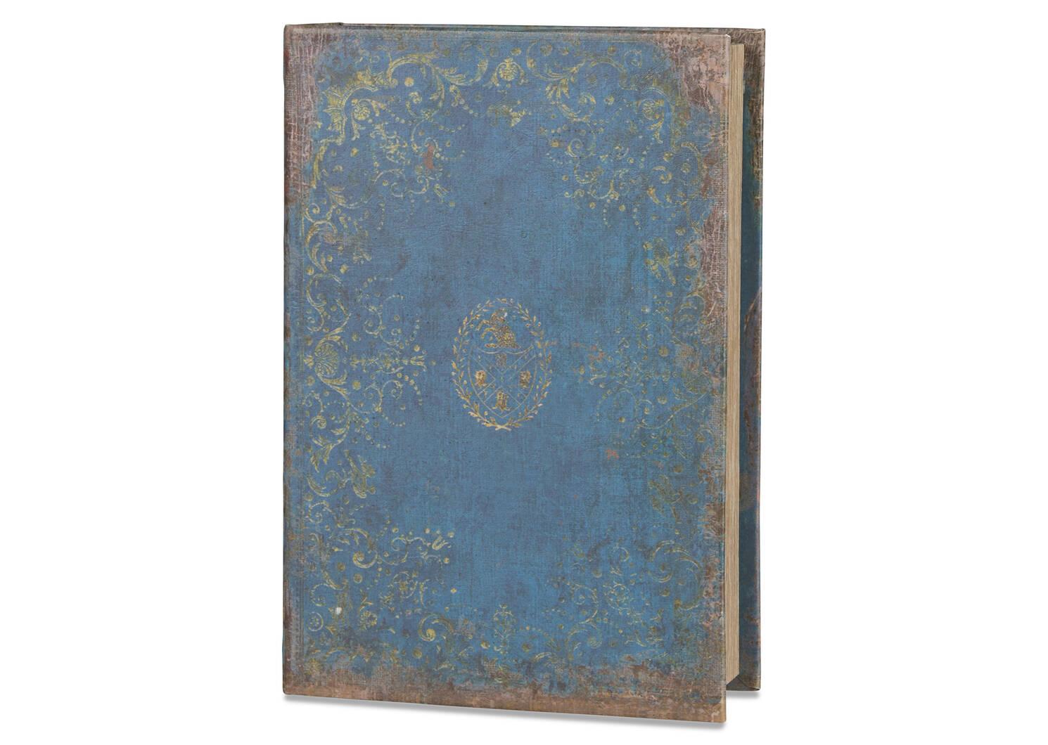 Grande boîte-livre Chronicle bleu voilé