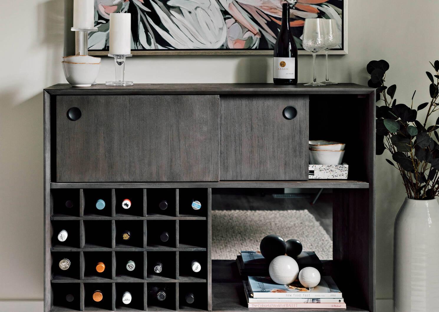 Cabinet à vin Kelvin -Bruna café
