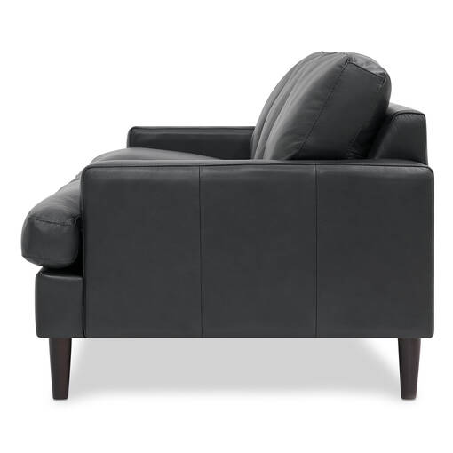 Savoy Leather Sofa -Jett Anthracite
