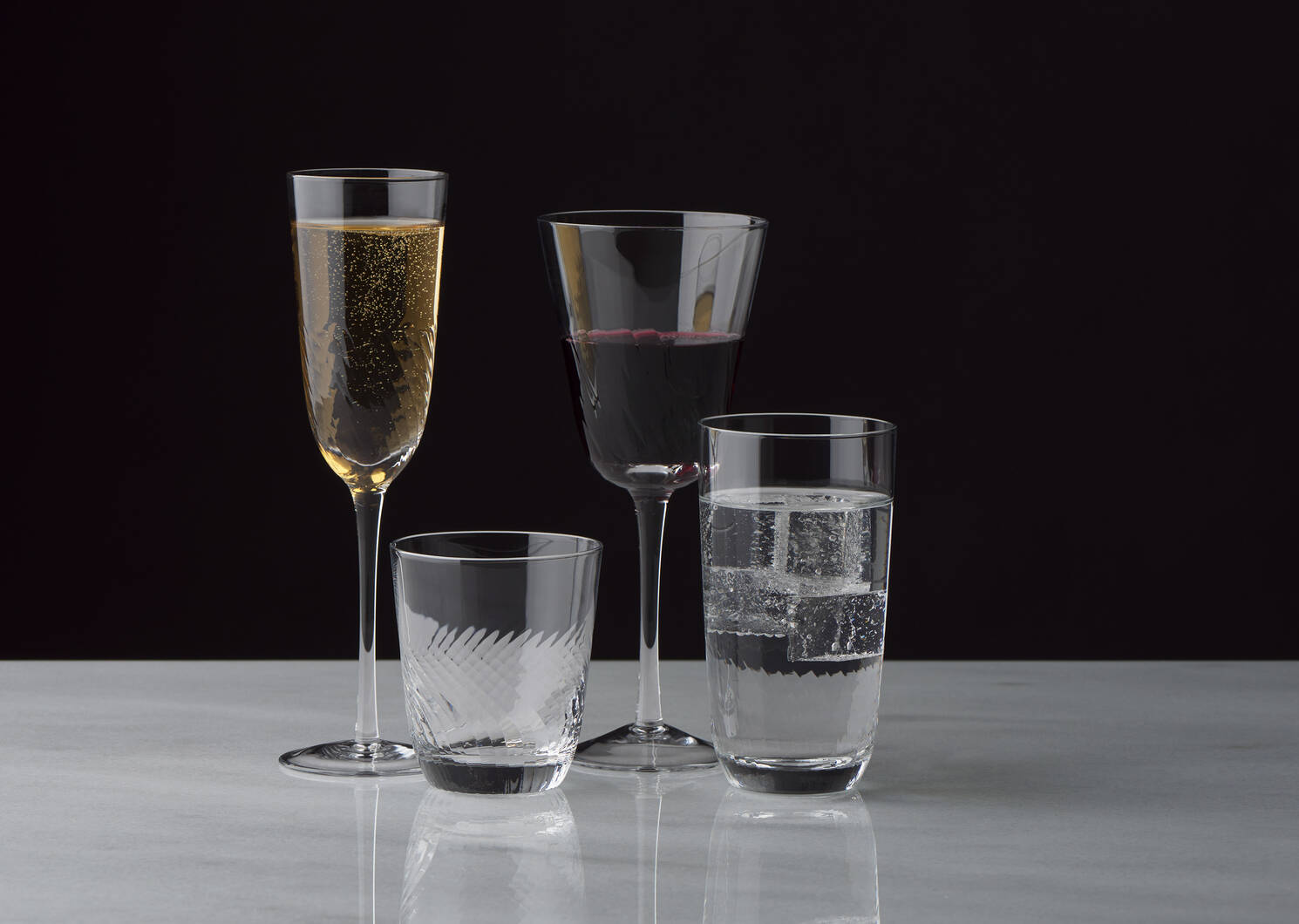 Bella Champagne Flute Clear