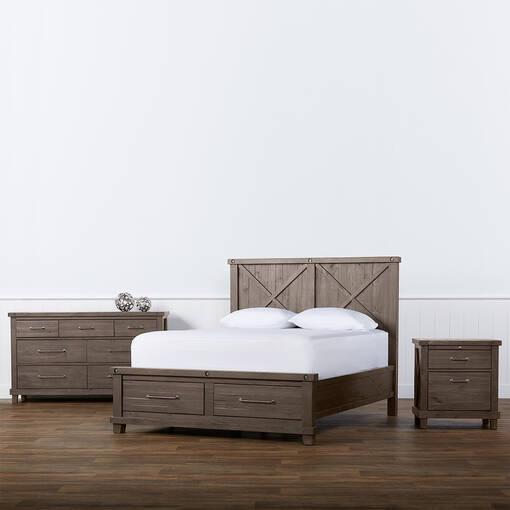 Ironside Storage Bed -Rustic Grey