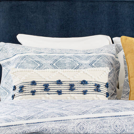 Kieran Duvet Set - Blue/White